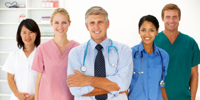 Portrait of medical professionals smiling